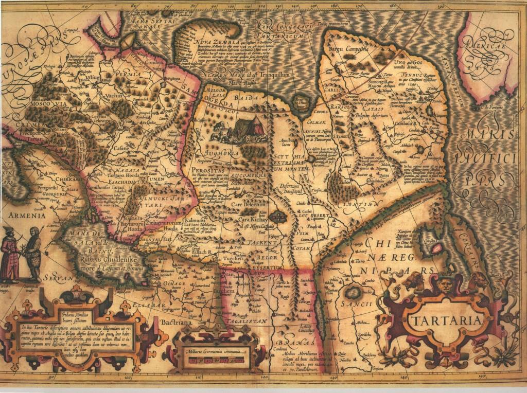 Карта Сибири (Тартарии) Йодокуса Хондиуса 1606