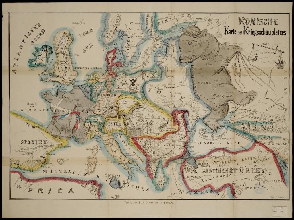 Немецкая карта, Крымская война 1853-1856
