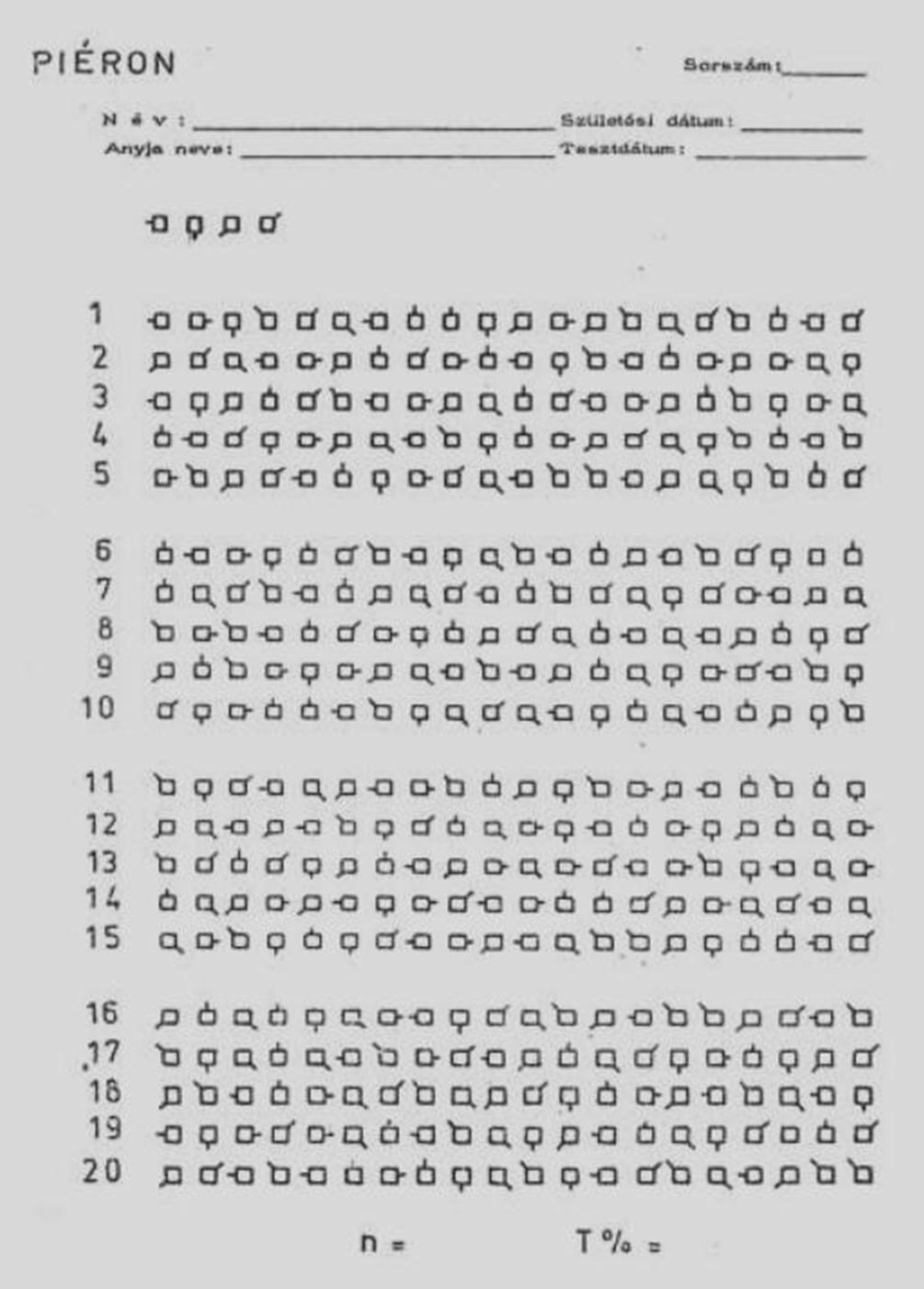 szék lámpa teszt kiértékelése