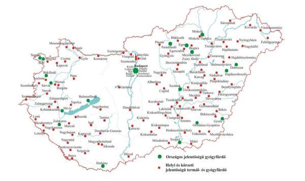 magyarország gyógyfürdői térkép Geotermikus adottságaink | Dr. Győri Ferenc, Hézsőné Böröcz Andrea  magyarország gyógyfürdői térkép